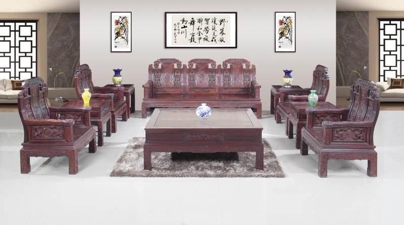 印尼条纹乌木家具