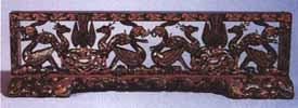 漆木的生灵《彩绘透雕座屏》