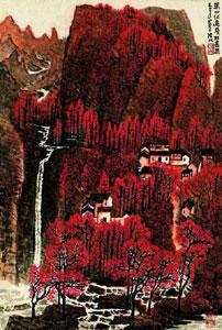 李可染《万山红遍层林尽染》