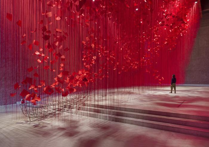盐田千春治愈系新作《I HOPE》:如果希望能被看到,会是什么颜色?